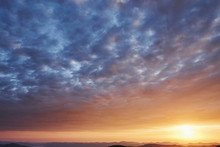 Colorful Vivid Sunset. Majesti...