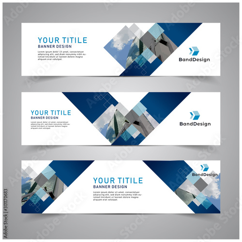 Fototapeta Abstract Header Banner design Vector Background for cover page website and advertising. obraz