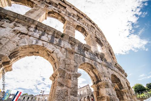 Fotografia, Obraz  Pula, CROATIA - July, 2019: Ancient roman coliseum in Pula