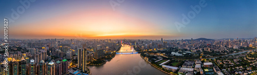 aerial photo of guangzhou Canvas