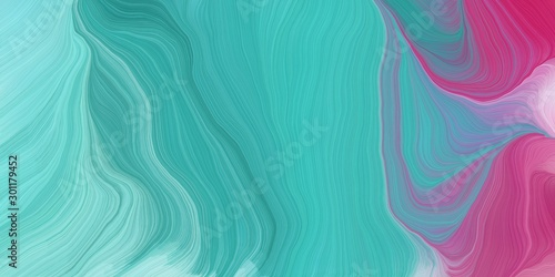 curved motion speed lines background or backdrop with medium turquoise, mulberry and sky blue colors. good as wallpaper