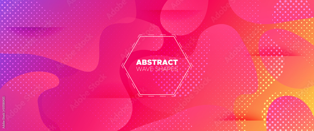 Fototapety, obrazy: Colorful Abstract Shapes. Futuristic Gradient.