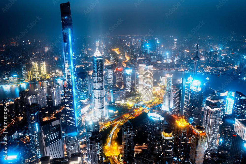 Fototapeta shanghai city