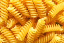 Heap Of Dry Pasta, Closeup