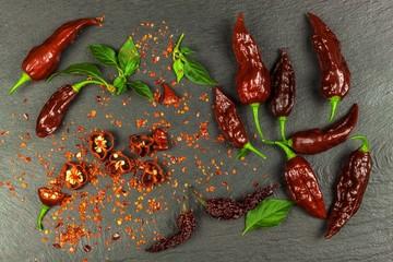 Fresh chilli peppers. Prepa...