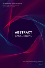 Vertical Trendy Abstract Red And Blue Background