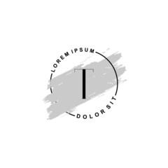 Fototapeta na wymiar Initial letter T beauty fashion, make up logo
