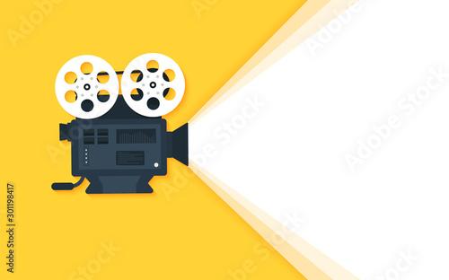 Obraz Movie time concept. Cinema banner design - fototapety do salonu