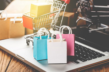 Shopping Online At Home Concep...