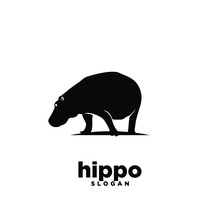Hippo Logo Icon Design Vector ...
