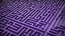 Purple Labyrinth Maze. 3D Illustration