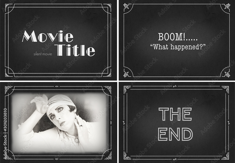 Fototapety, obrazy: Silent Movie Frame Mockup Bundle