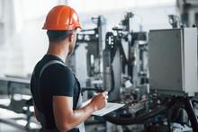 Industrial Worker Indoors In F...