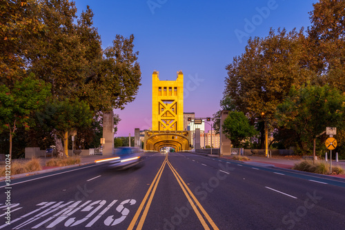 Tower Bridge in Sacramento California around Sunset #301212024