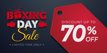 Boxing Day Sale Background Template With Price Tag