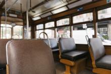 Interior Of A Tram, Lisbon, Portugal