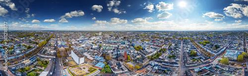 Obraz aerial 360° skypano krefeld - fototapety do salonu