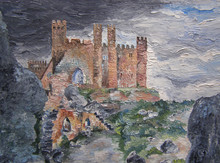 Original Oil Painting Castle I...