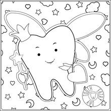 Tooth Fairy. Vector Cartoon Il...
