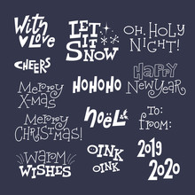 Christmas Lettering In The Sty...