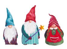 Set Of Christmas Gnomes, Lepre...