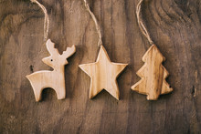 Christimas Decor Made From Wood