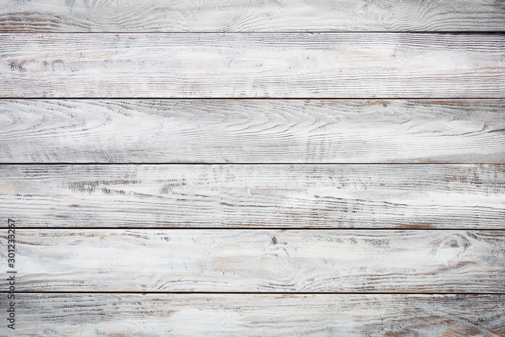 Fototapety, obrazy: Gray wooden background with old painted boards