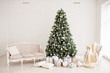 Leinwanddruck Bild - Christmas festive interior. Christmas cozy home atmosfere
