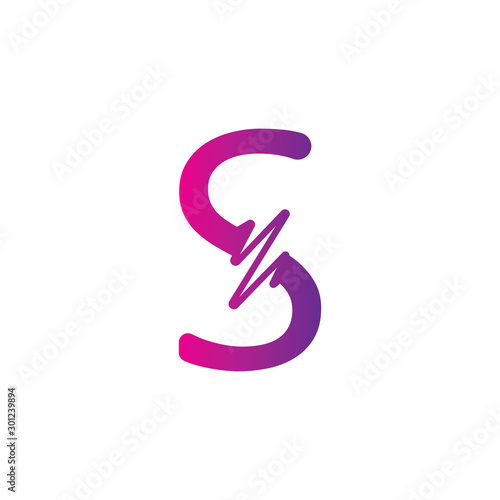S Letter creative logo or symbol template design Wall mural