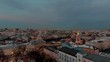 Views of Moscow from the drone, different seasons in Russia