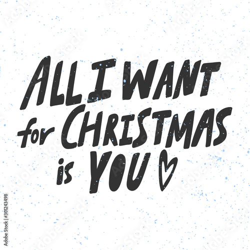 All I want for Christmas is you Wallpaper Mural