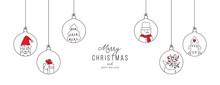 Hand Drawn Christmas Ball Illu...