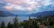 Lake Como, Italy, at Dawn