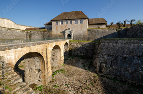 Fotomural View of the old citadel in the city of Besancon, France
