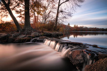 Smooth Milky Stream Of Water C...