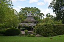Large Wooden Gazebo With Point...