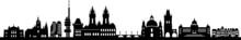 Prag City Skyline Vector Silhouette