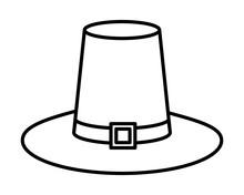 Pilgrim Hat Traditional Accessory Icon