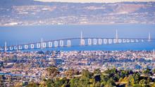 Aerial View Of San Mateo Bridg...