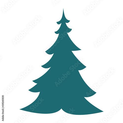 Obraz merry christmas pine tree icon - fototapety do salonu