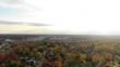 USA Michigan Clinton Township DJI Mavic flying over Farmbrooke Drive on a cold fall morning