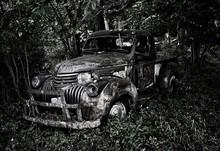 Old Abandoned Vintage Truck