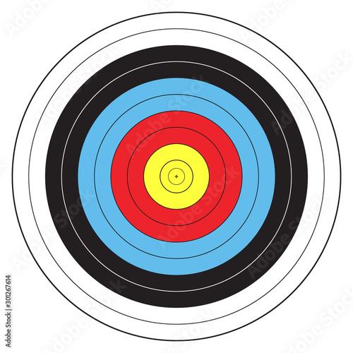 Archery target Canvas Print