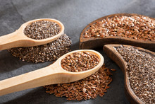 Organic Chia And Linseed Seeds...