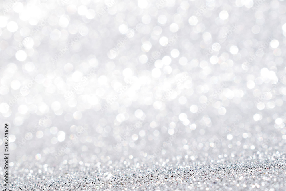 Fototapety, obrazy: silver glitter abstract background