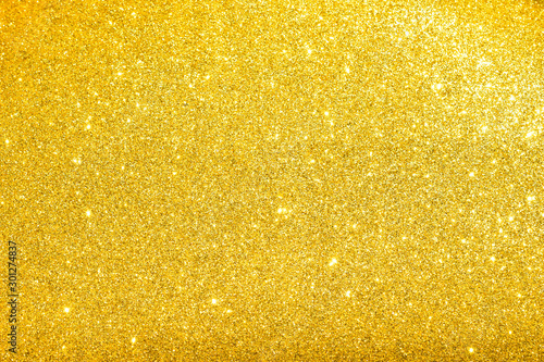 Obraz sparkles of golden glitter texture background - fototapety do salonu