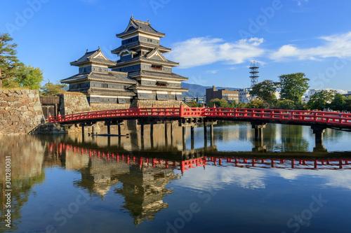 Fotomural 夕暮れの松本城 長野県松本市 Matsumoto Castle Nagano Matsumoto city