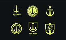Set Of Old Gold Badge Anchor L...