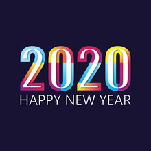 2020 Happy  New Year Insta Color Banner