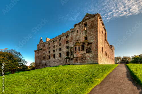 Staande foto Oude gebouw Linlithgow Palace in the town of Linlithgow, West Lothian, Scotland.